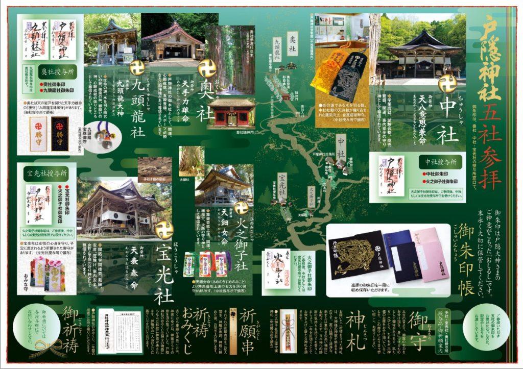戸隠神社 五社参拝Map