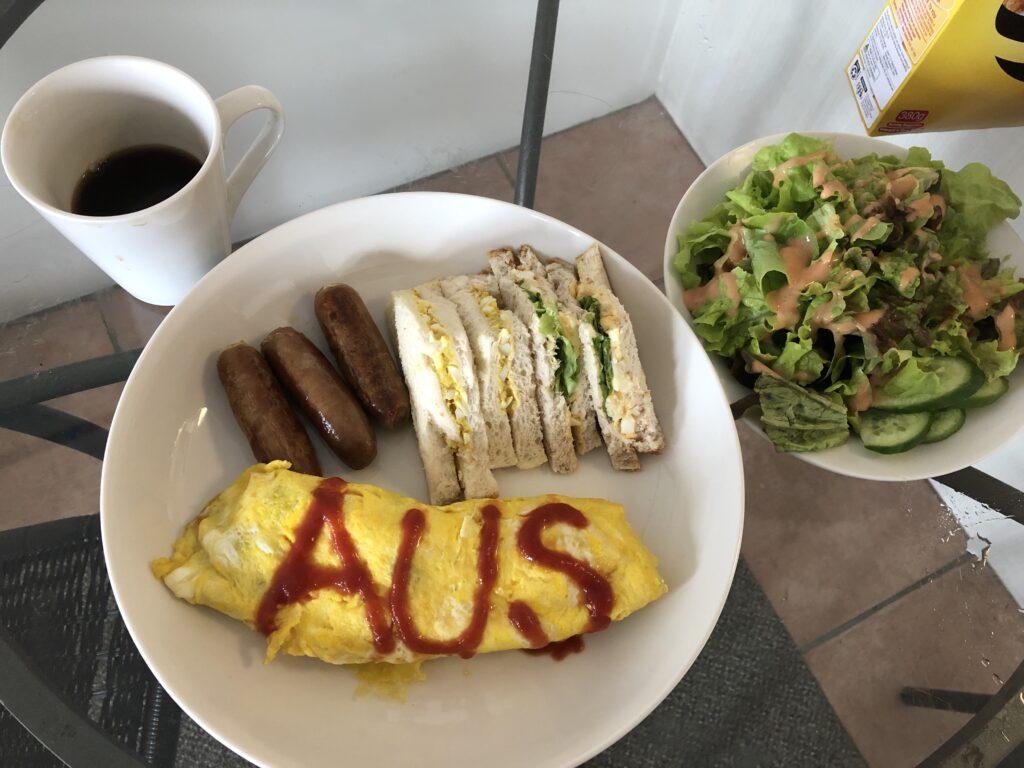ケアンズので朝食