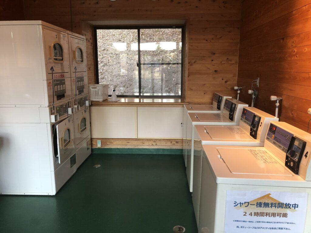 大子広域公園オートキャンプ場 グリンヴィラ 個別サイト AC電源サイト シャワー室 ランドリー