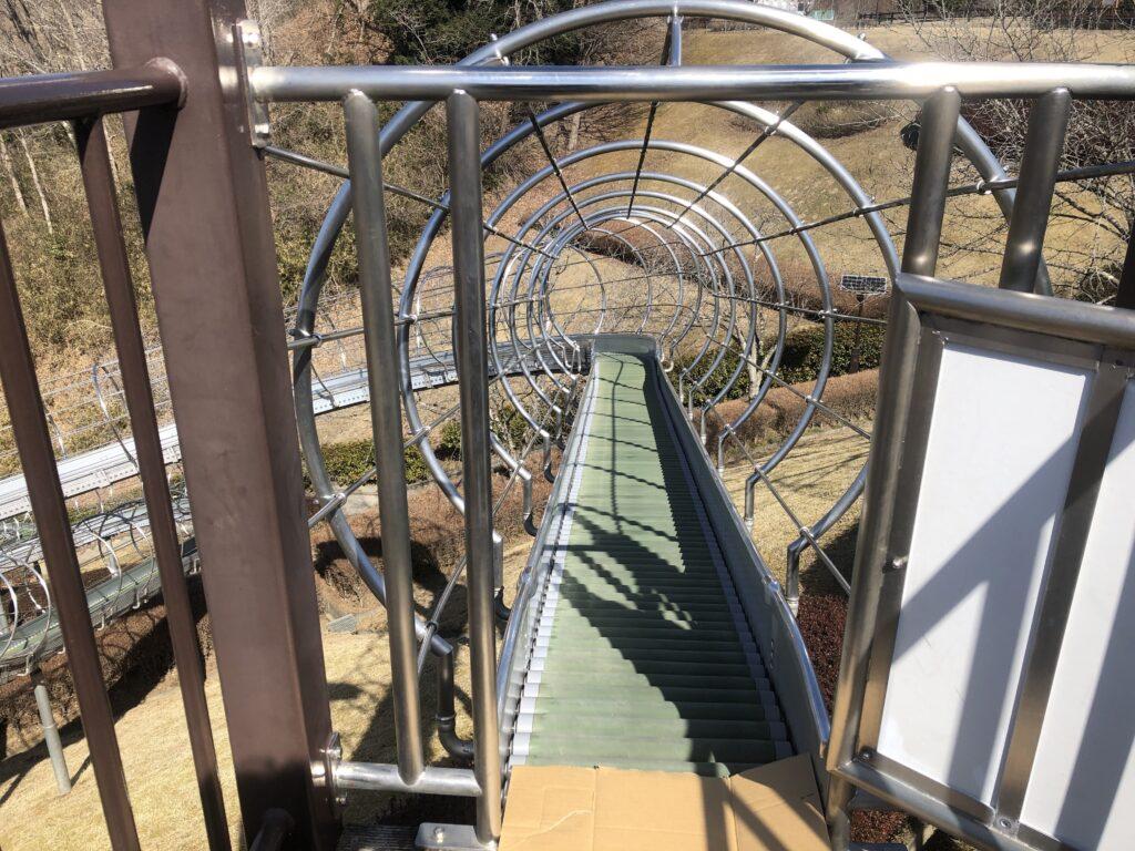大子広域公園 アスレチック ローラー滑り台