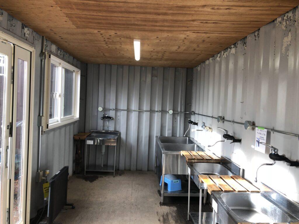 ライジングフィールド軽井沢 センターフィールド 洗い場