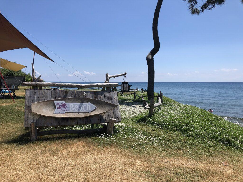 CAMPING SPOT HAMANO プライベートビーチ
