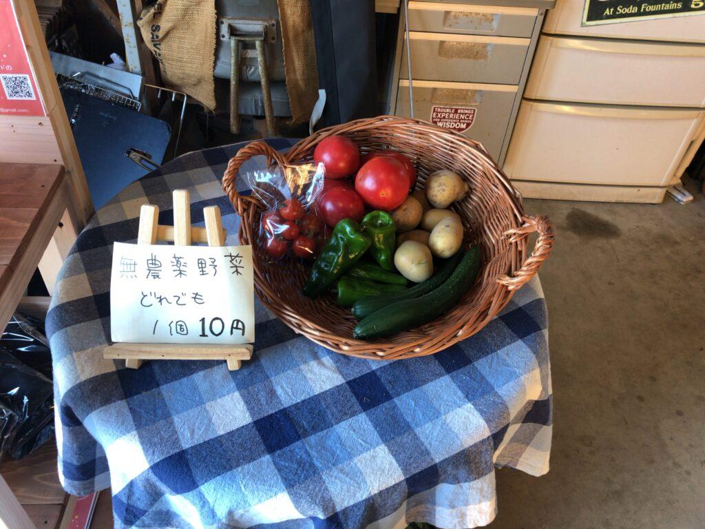 CAMPING SPOT HAMANO 管理棟 野菜販売