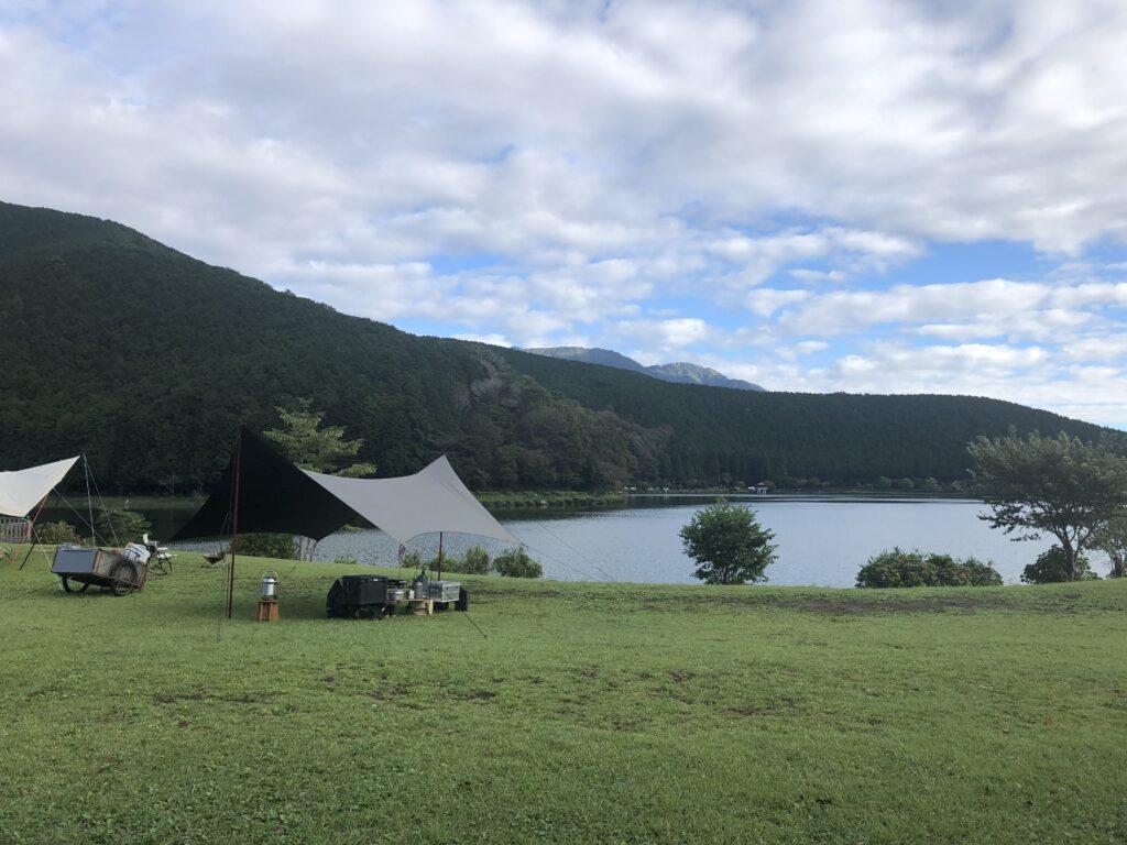 静岡県富士宮市 富士山が目の前に見えるキャンプ場  田貫湖キャンプ場  Aサイト