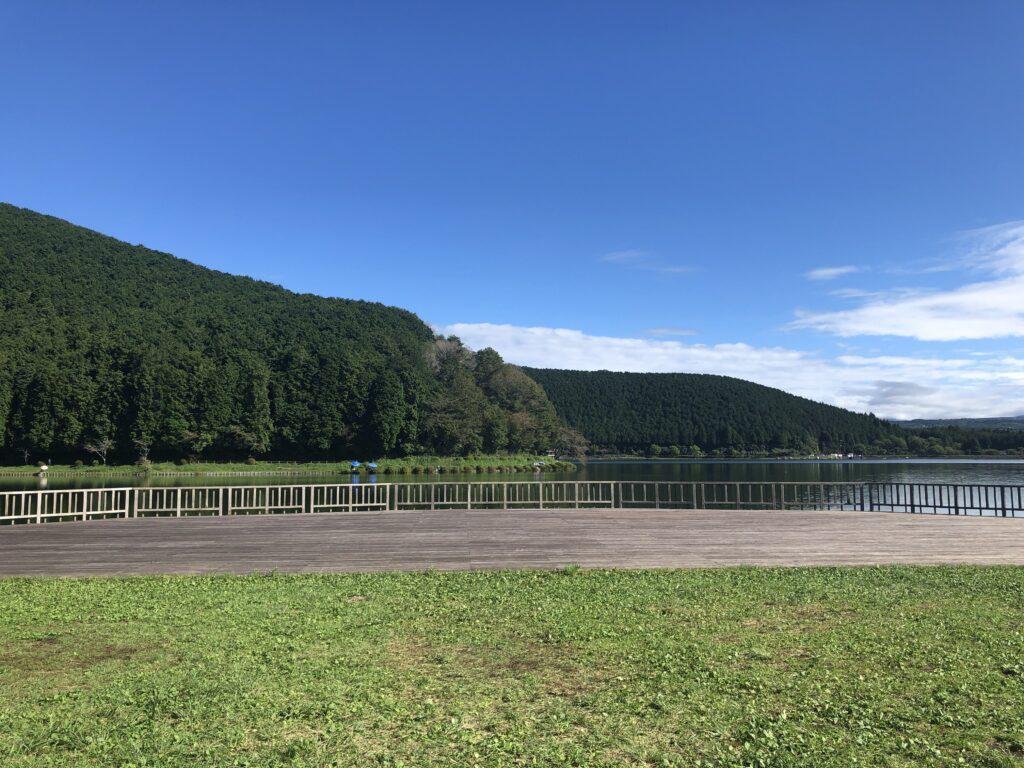 静岡県富士宮市 富士山が目の前に見えるキャンプ場  田貫湖キャンプ場  Aサイト  富士山 展望テラス